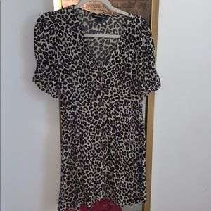 Something navy x Nordstrom cheetah print dress